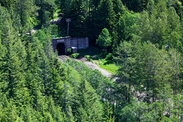 Portal of the Second Cascade Tunnel near Stevens Pass