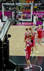 Russian Women's Basketball Team Warm Up at the London Olympics 2012