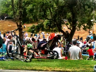 Other people's bikes at concert on the green