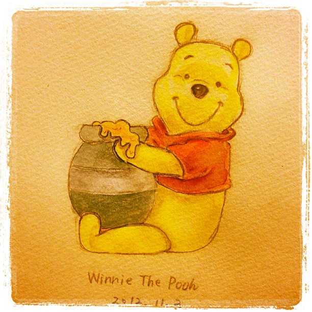Winnie The Pooh 完成 disney pooh winniethepooh bear honey hunny