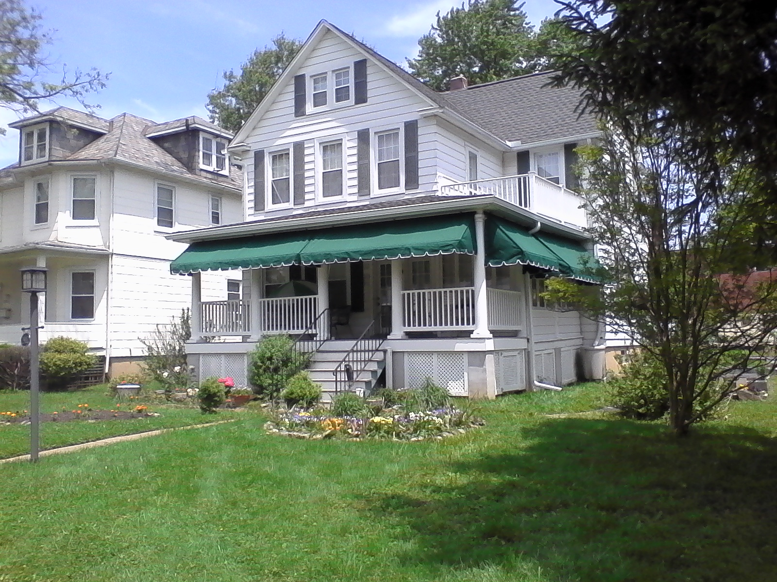 Green Front Porch Awnings