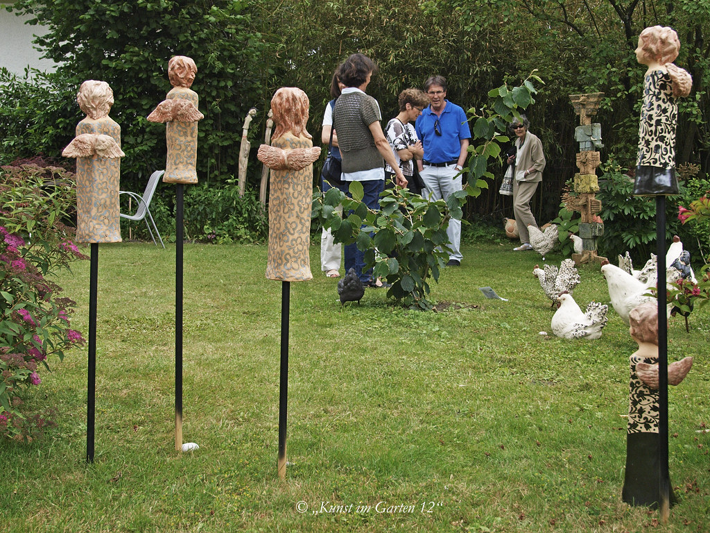 Engel Keramik Garten Fiechter Keramik Christine Baumg Flickr