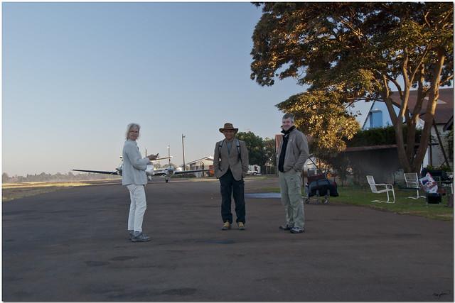 Harare Charles Prince - our ride awaits...Executive Air Cessna