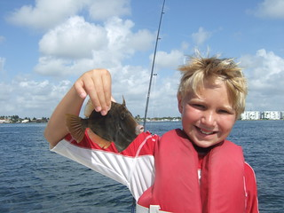 Carter with a large filefish