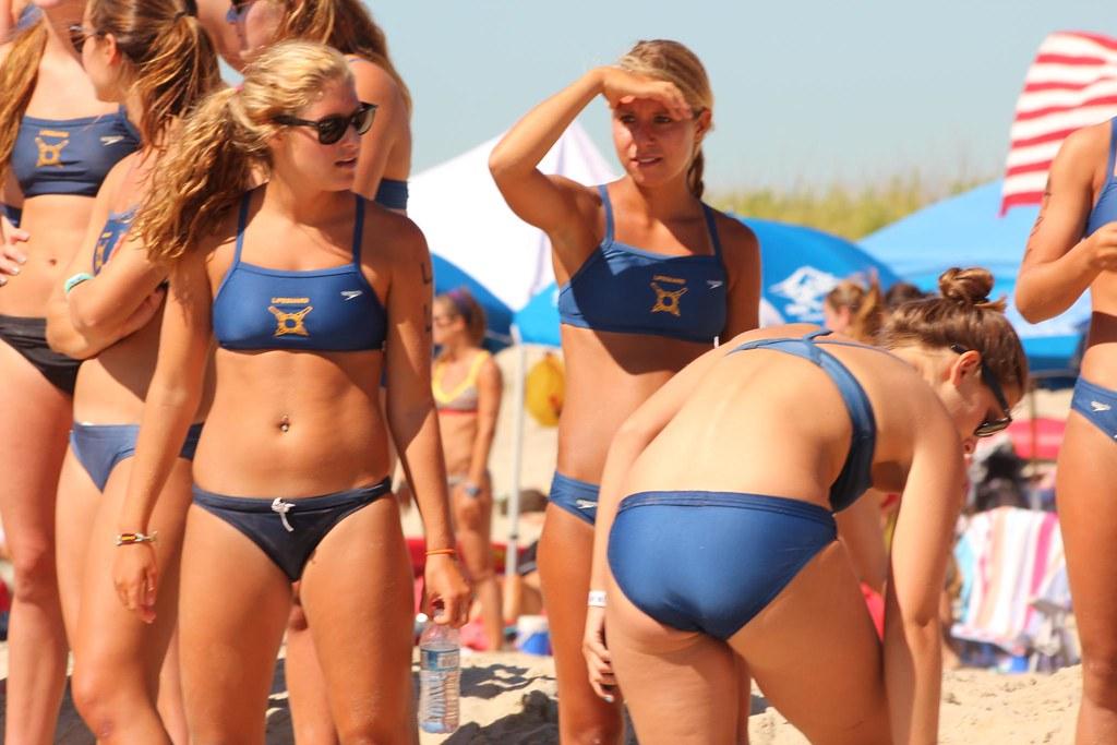 Teen topless beach