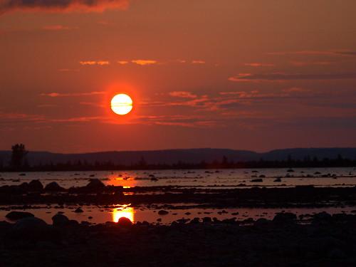 sunset summer orange water mi reflections photo walk low lakemichigan traversecity reddish tacc oldmissionpeninsula july2012