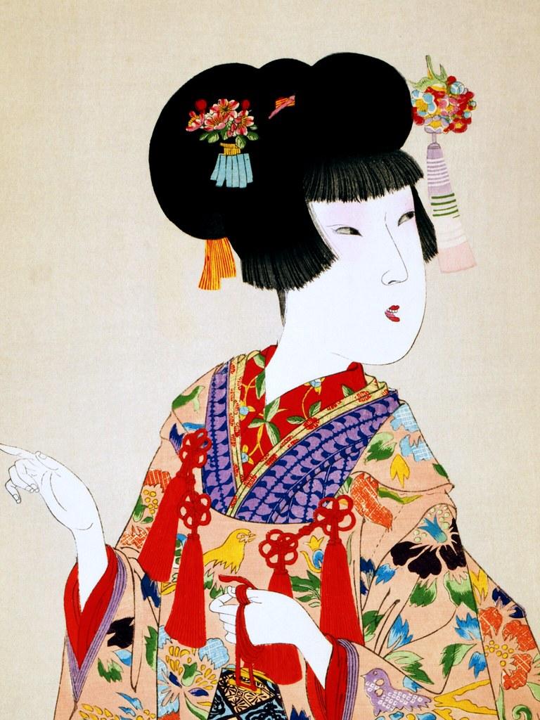 True Beauty Wallpaper Chikanobu Ukiyo E Titled True Beaut Flickr