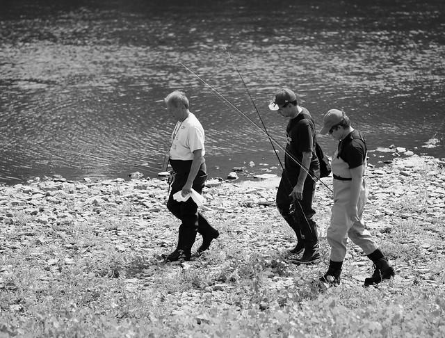 Fishing the Fox River, Illinois