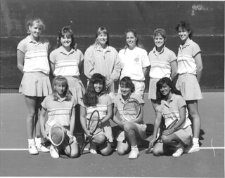 Women's tennis team in 1988. Submitted by Mercedes Fitchett '91