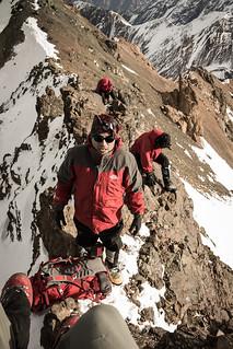 Filo de la cumbre norte del Pta. Alazán (primer ascenso!)