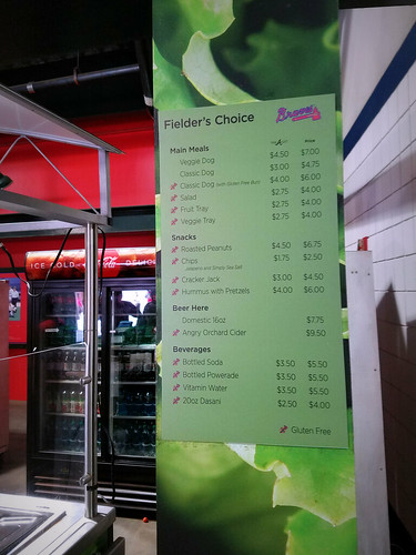 A vegetarian 'dines' at Turner Field. | by Thomas Cizauskas
