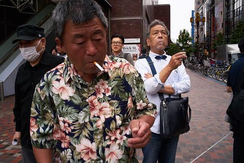Group of smokers, Tokyo 2016