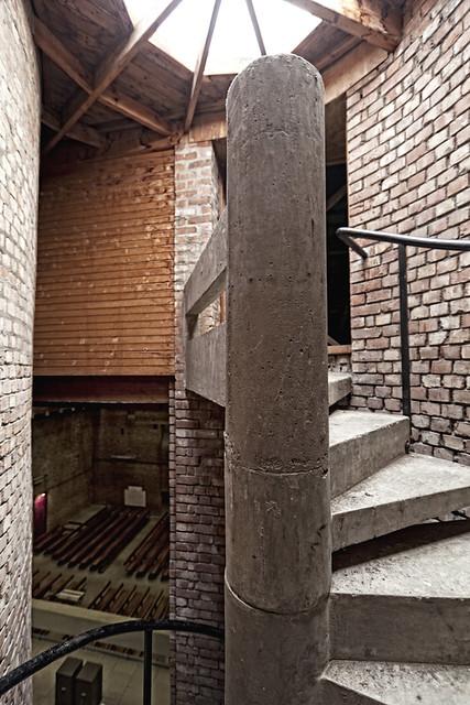 spiral stair - st brides church - east kilbride