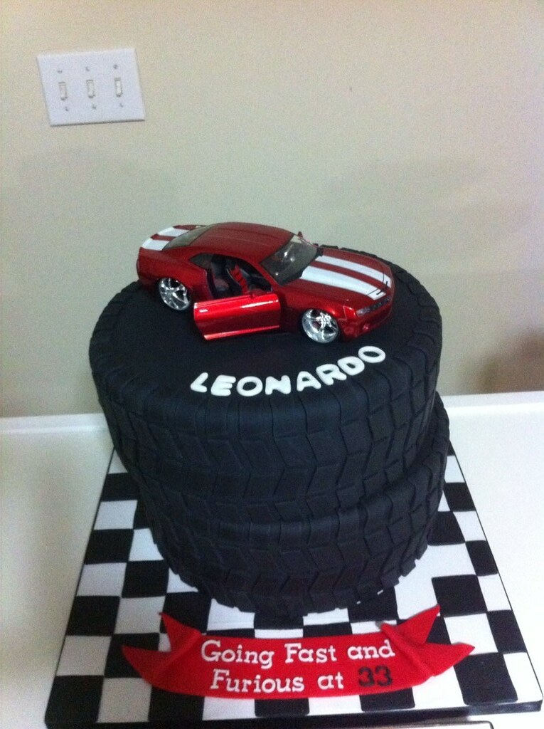 Tire Cake Fast Amp Furious Theme Cake Jackie Flickr