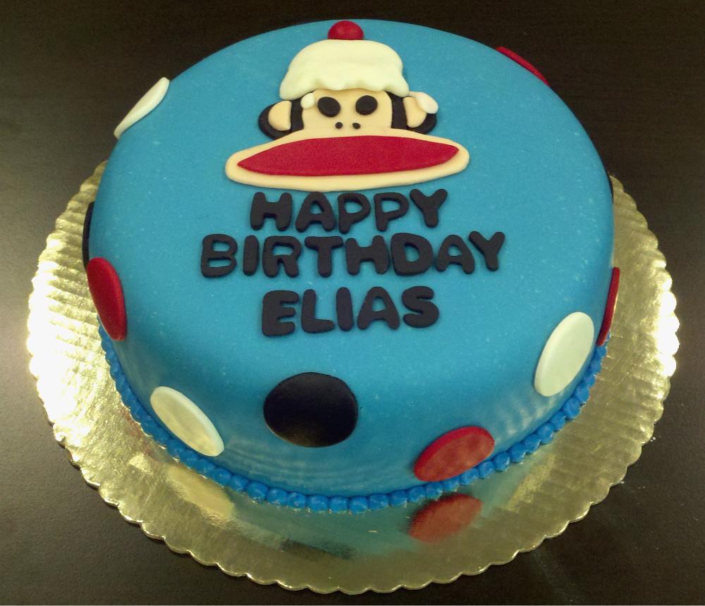 Character Birthday Cake Paul Frank Monkey