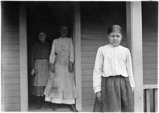 Golla Chambers, 12 years old, been in mill 3 years, spinning 2 years, weave 1 year. Other sisters spinners. Gastonia, N.C, November 1908