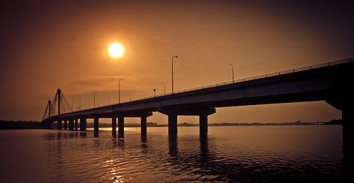 sunrise canon mississippiriver clarkbridge 500d rodde altonillinois t1i kevinrodde kevinroddephoto kevinroddephotography