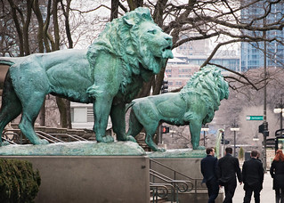 bronze lions (1894), Art Institute of Chicago, 111 South Michigan Ave, The Loop, Chicago, Illinois, USA | by lumierefl
