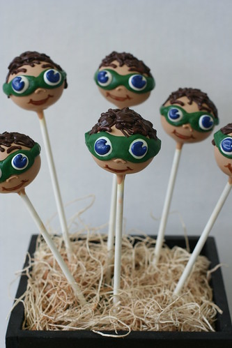 """Super Why"" Character Cake Pops 