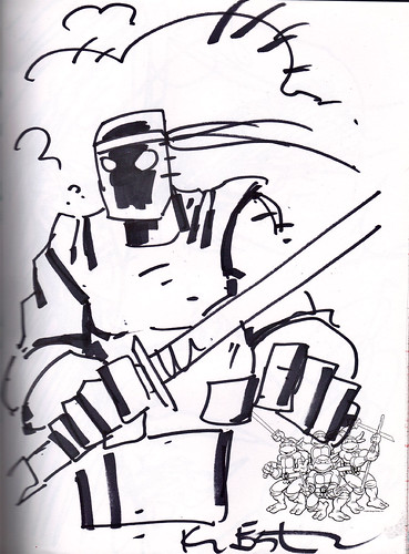 """""""DRAW TOKKA A FOOT SOLDIER n' MAYBE HE'LL SHUT UP"""" by Kevin Eastman  (( 2012 )) by tOkKa"""