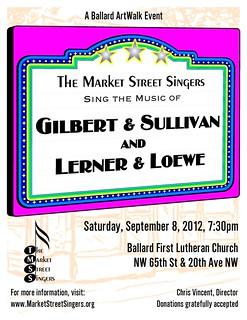 Poster - Gilbert Sullivan Lerner Lowe