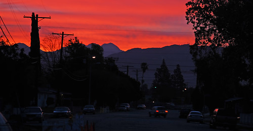 california morning mountains silhouette sunrise sanfernandovalley