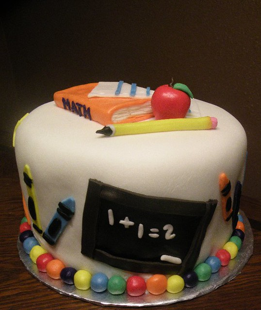 Awe Inspiring School Cake By Kristie M Of Birthday Cakes 4 Free San Ant Flickr Funny Birthday Cards Online Elaedamsfinfo