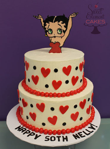 Terrific Betty Boop Birthday Cake A Photo On Flickriver Funny Birthday Cards Online Hendilapandamsfinfo
