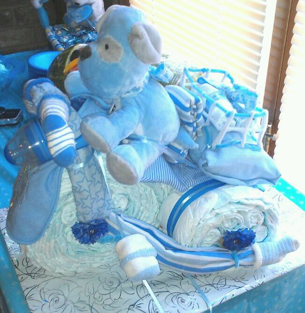 Tricycle Diaper Cake Side View