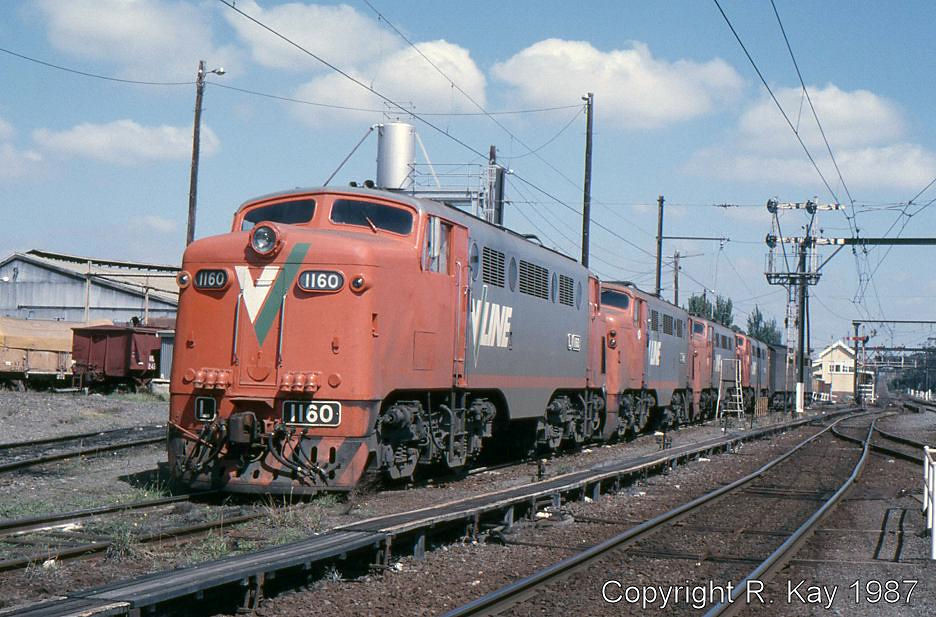 L-1160, L-1169, L-1150, L-1156 & S-300 at Traralgon Loco Depot by Robert Kay