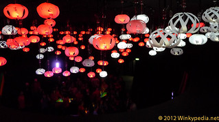 Light installation  in the Coca Cola Pavilion, London Olympic Games 2012 | by Winkypedia.net