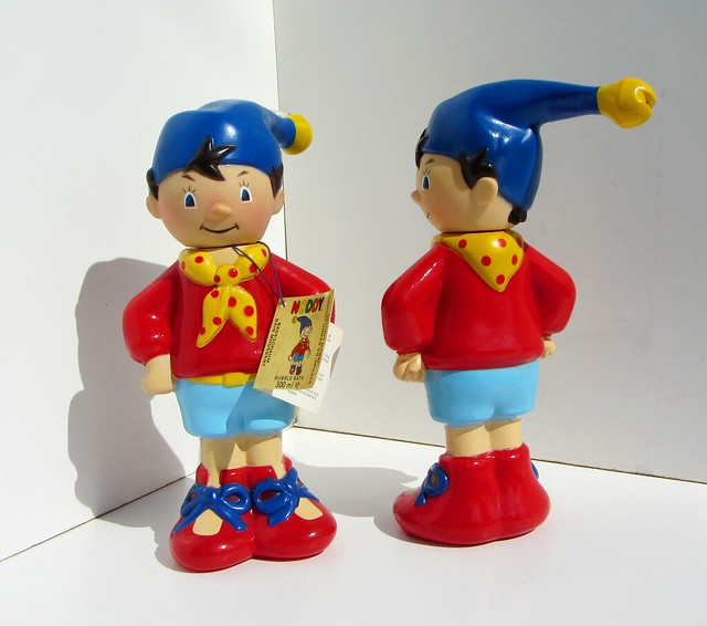 Noddy Bubble Bath (Soaky) And Shower Gel 300 ml Plastic Figures By Grosvenor London England 1990 (Full) - 17 Of 186