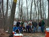 Trail volunteer group shot - just one of several workdays needed to build Matson Hill.