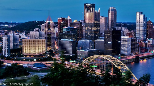 city longexposure sunset panorama reflection observation photography long exposure downtown pittsburgh dusk pennsylvania steel sony deck le anvar rx100 khodzhaev svetan anvarkhodzhaevsvetanphotographypittsburghjune