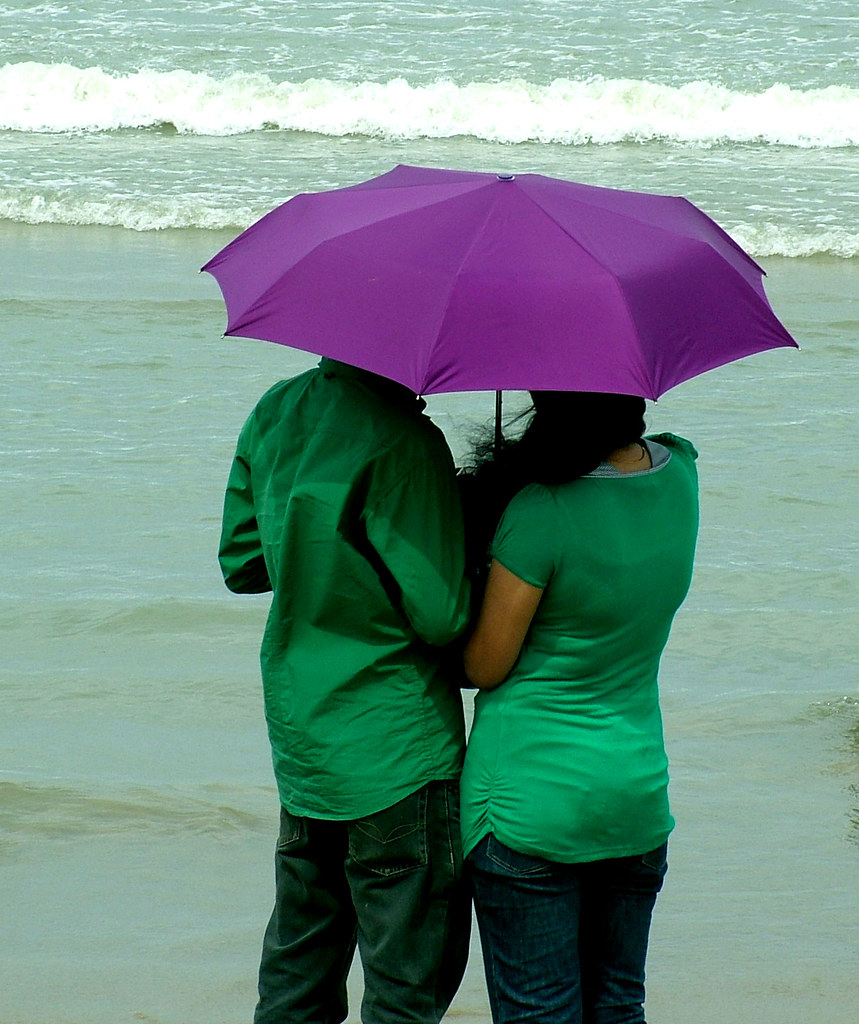 couple wearing green