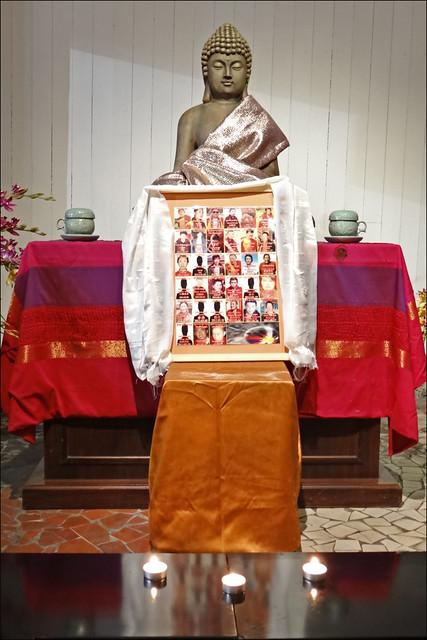 A la mémoire des moines tibétains qui se sont immolés (pagode de Vincennes)