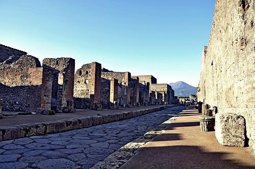 Pompei Street with Mount Vesuvius   by RealCarlo