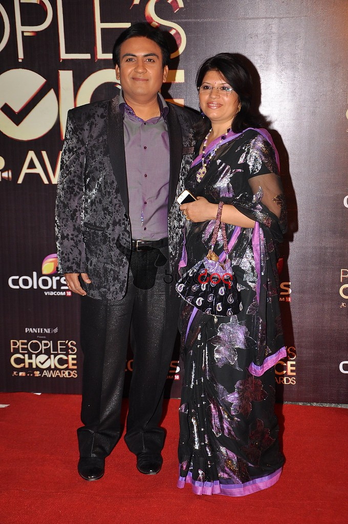 Dilip Joshi and his wife | What: People's Choice Awards Indi