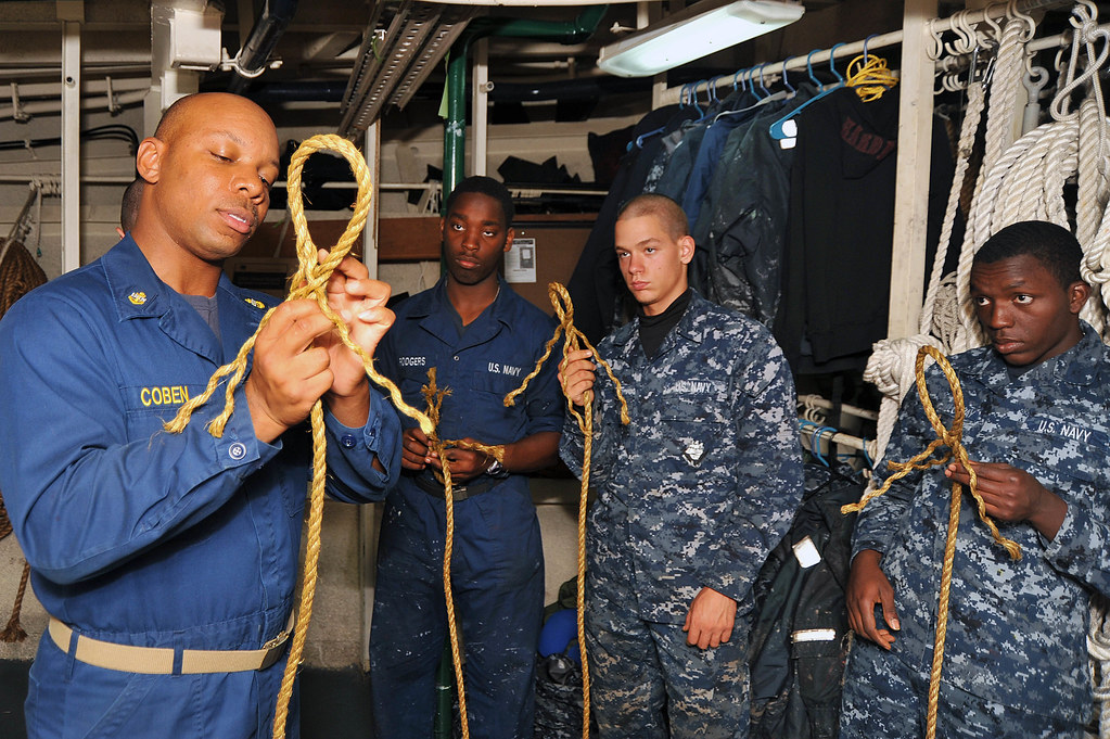 Sailors learn knot tying aboard USS McCampbell  | PHILIPPINE