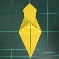 วิธีพับกระดาษเป็นรูปนกยูง (Origami Peacock - ピーコックの折り紙) 022