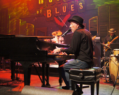 Bob Andrews on the HOB's Main Stage for Piano Night. photo Bill Sasser