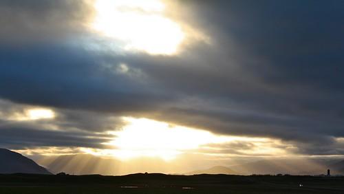 light sunset iceland islandia rays ísland islande ísland the4elements höfn hornafjörður