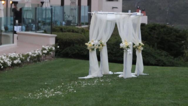 IMG_7559 wedding white flowery arbor at bacara resort mira lawn