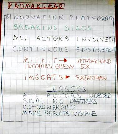 ICAR-ILRI Communications Workshop_Theme 1_Chart Writing_Innovation Platforms 2