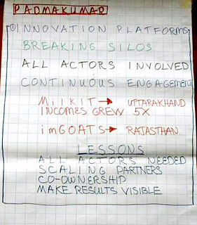 ICAR-ILRI Communications Workshop_Theme 1_Chart Writing_Innovation Platforms 2