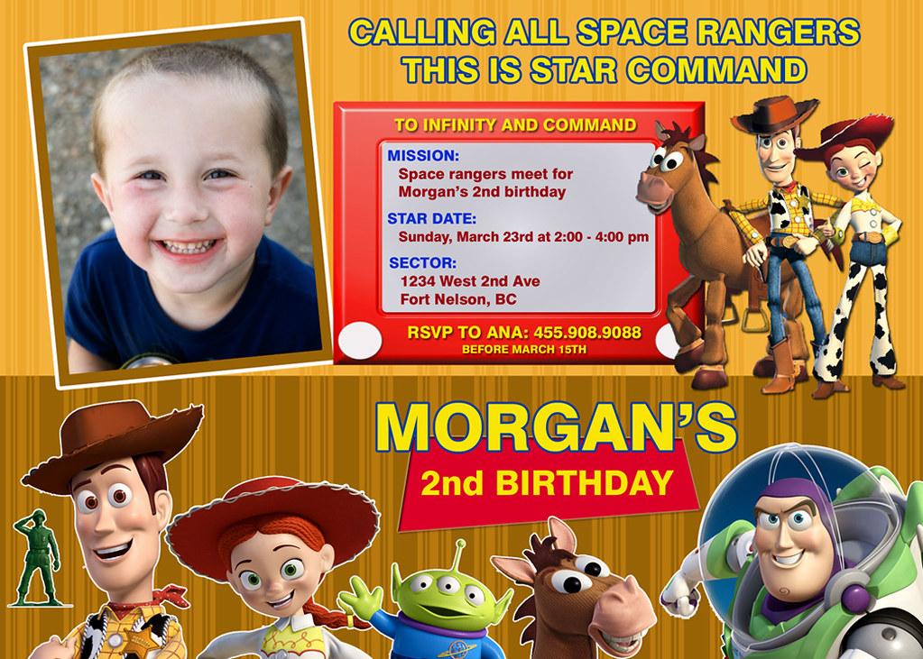 Toy Story Custom Birthday Invitation