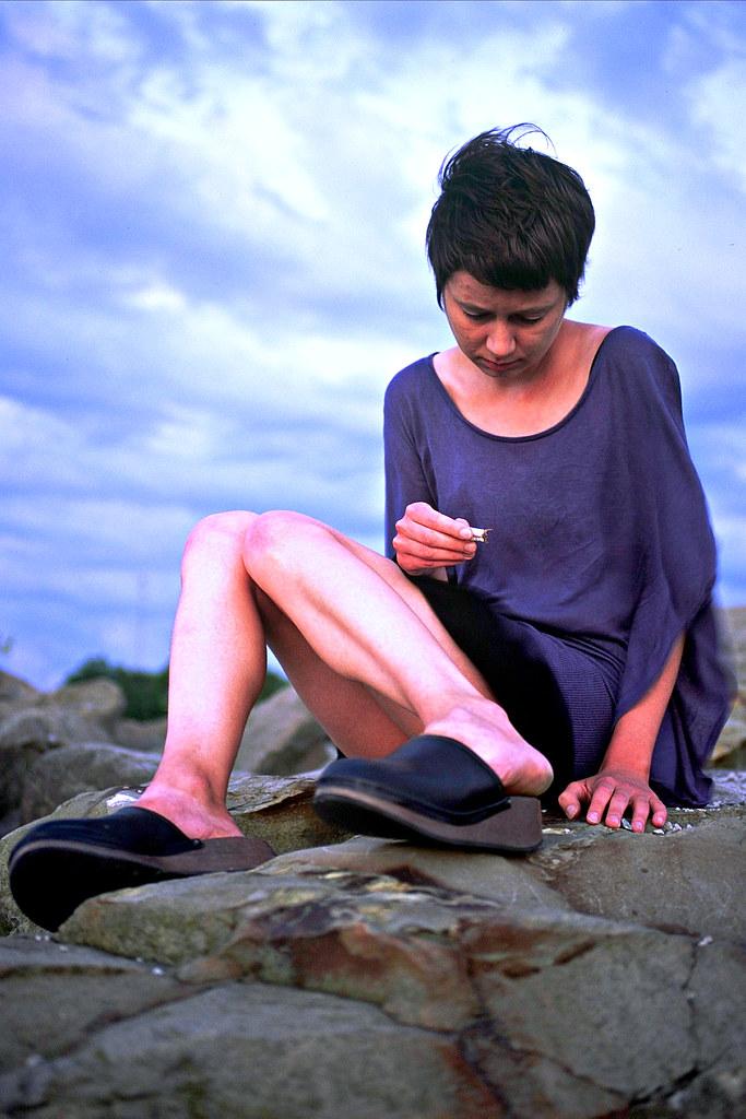 Aneta Portrait on Rocks 1