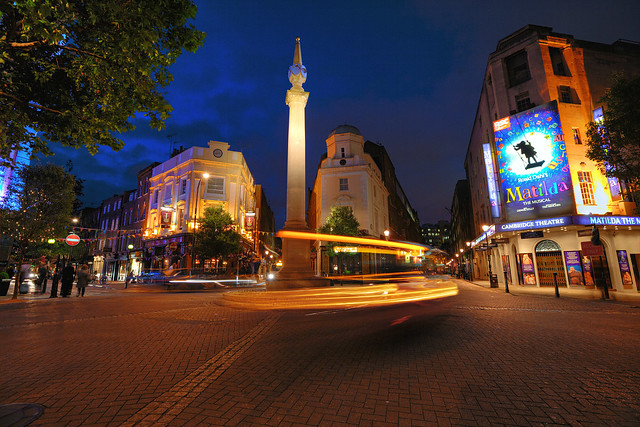 Night View of Seven Dials, Covent Garden