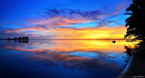 travel blue panorama cloud reflection beach nature water sunrise landscape jetty malaysia bluehour scapes kelantan tumpat sifoocom hdcpl jubakarpantai