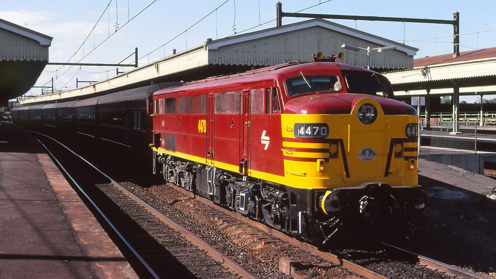 NSWGR_BOX007S01 - 4470 at Strathfield with the Newcastle Express by michaelgreenhill